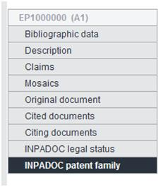 Select to view the INPADOC family for a record on Espacenet.