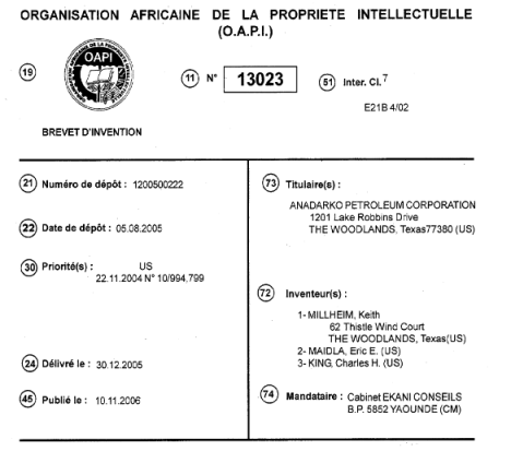 OAPI Document on Espacenet