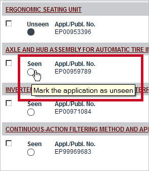 """Mark applications as """"Seen"""" (image from July 2013 Release Notes)."""