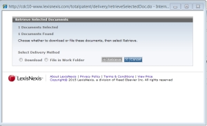 Retrieve Select Documents Feature, Image Courtesy TotalPatent