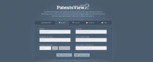PatentsView Homepage