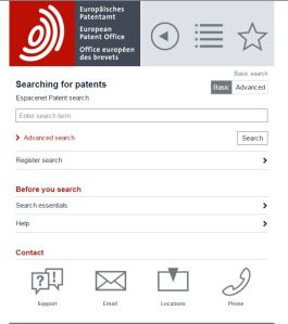 EPO Mobile Search Page