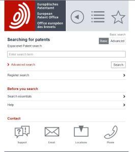 EPO Mobile Search Page